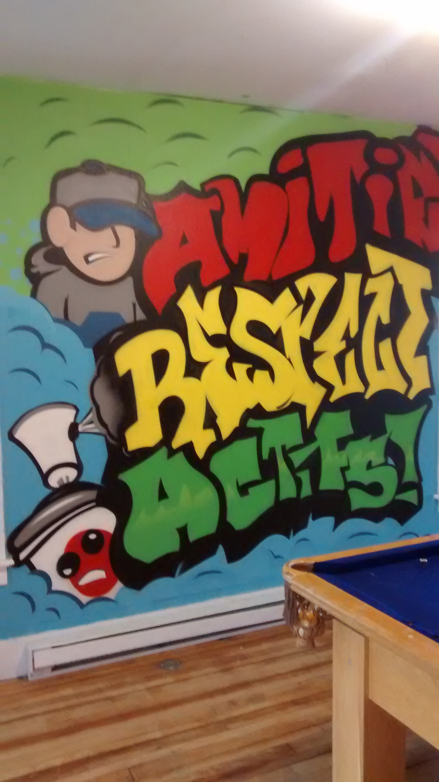 Les graffitis de la maison des jeunes de waterville